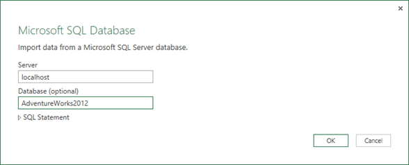 Power Query and Stored Procedures with Parameters | Reeves